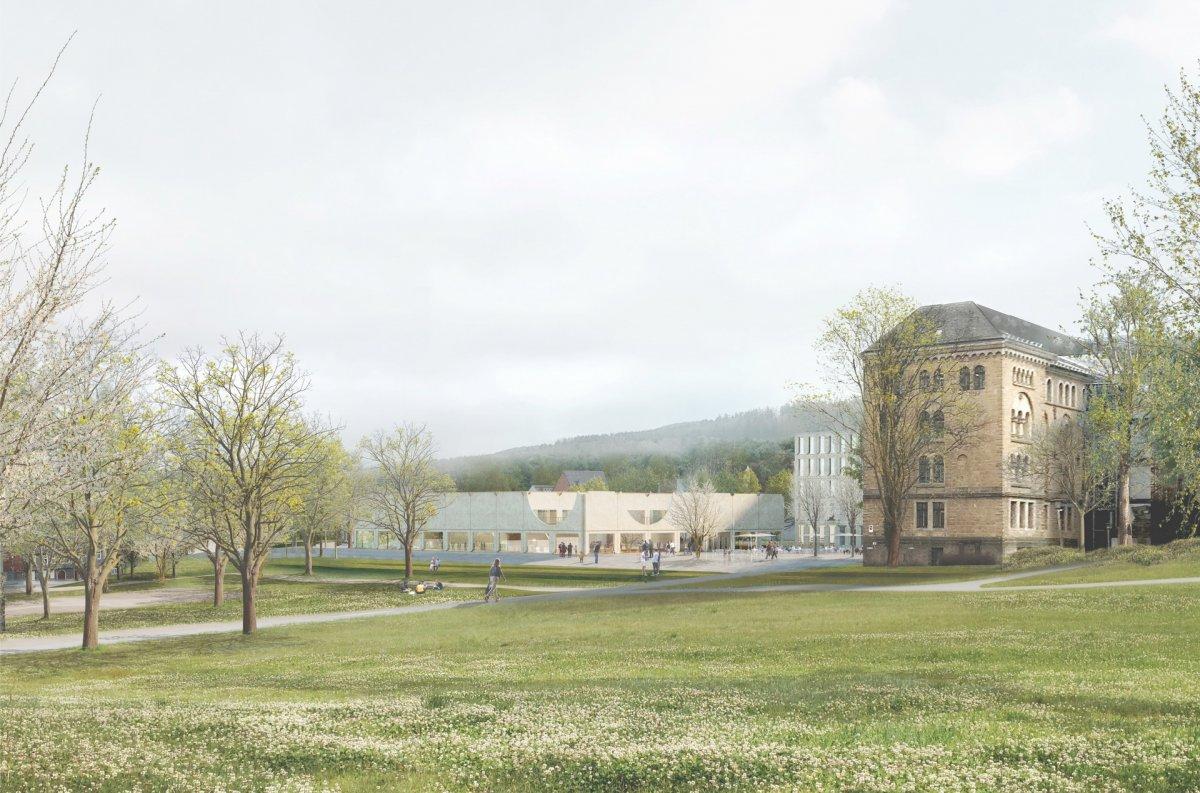 Visualisierung von der Kaiserpfalz (Waechter + Waechter Architekten BDA, Darmstadt )