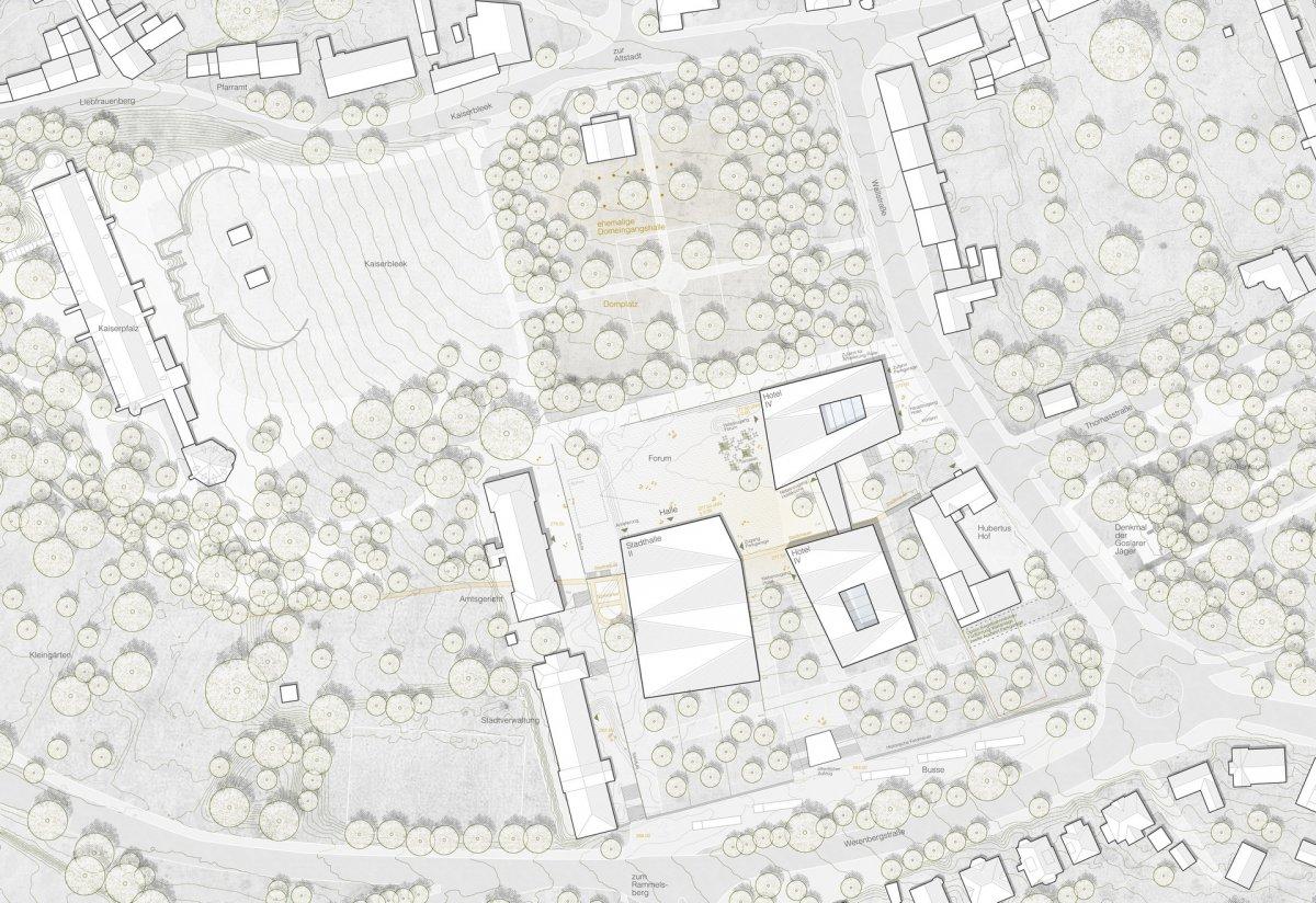 Lageplan (Auer Weber Architekten, Stuttgart)
