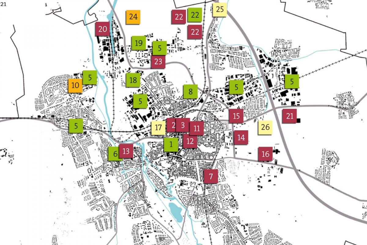 Wirtschaft: Übersicht der Projekte bzw. Standorte einschließlich Umsetzungsstand