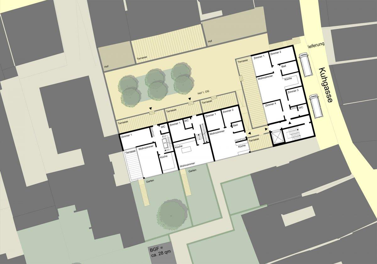 Beispielhafter Wohngrundriss, 1. Obergeschoss