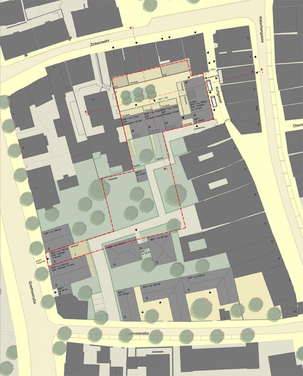 Städtebaulicher Entwurf, Ausschnitt