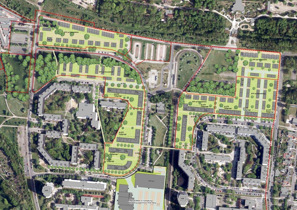 Potentialskizzen zur Großwohnsiedlung Roter Berg
