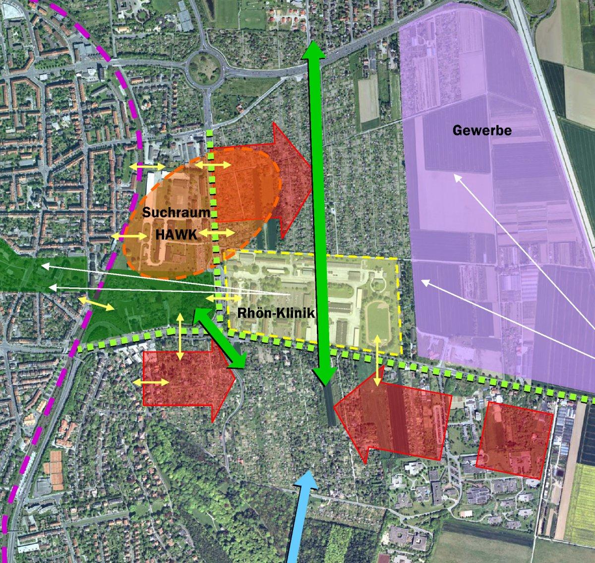 Erweiterung Oststadt: Potentiale