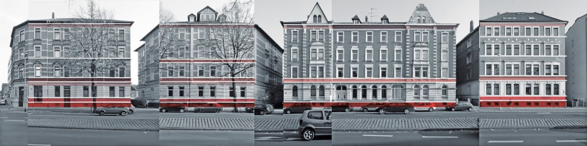 Schema zur horizontalen Fassadengliederung