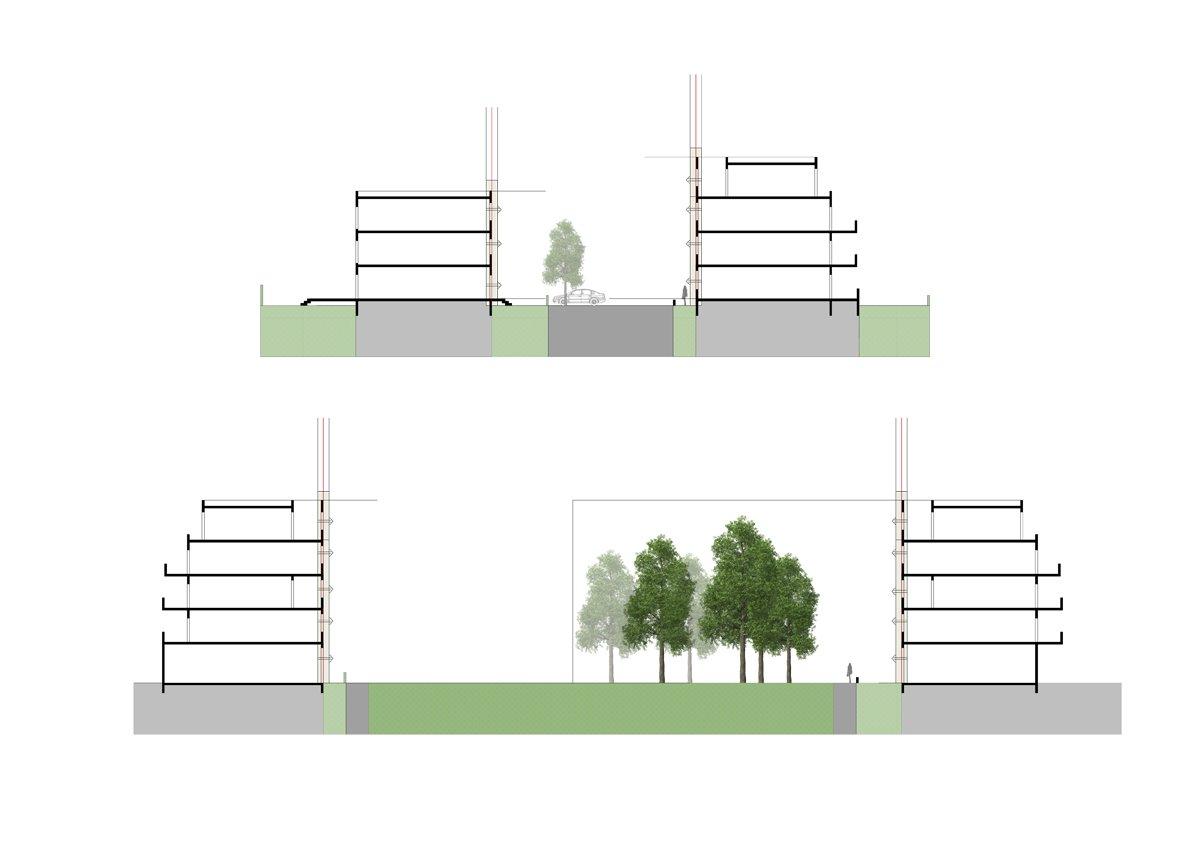 Wohnstraße: Geschossigkeit und Bauhöhen