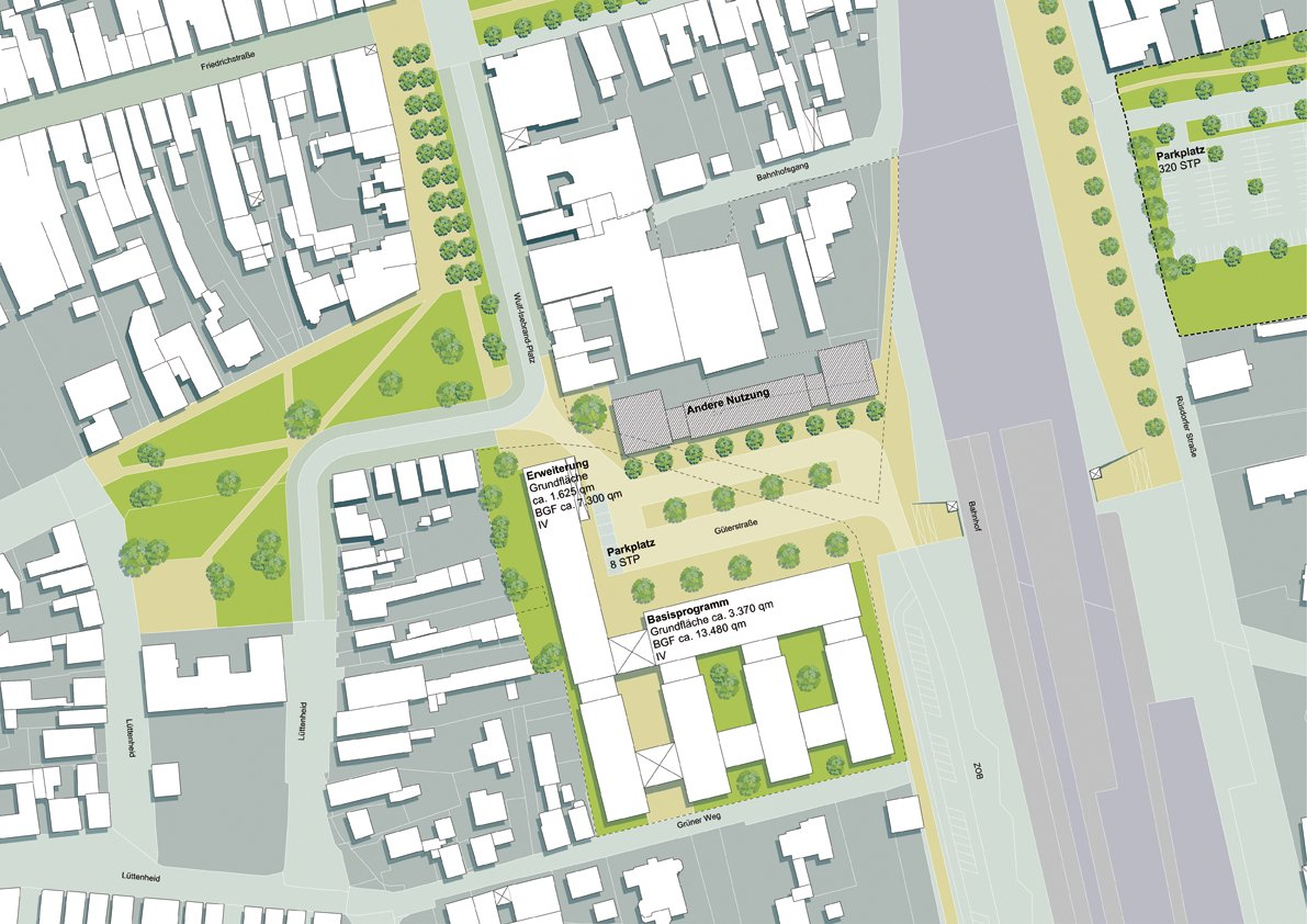 Konzept: Standort Westseite Bahnhof mit Programmerweiterung