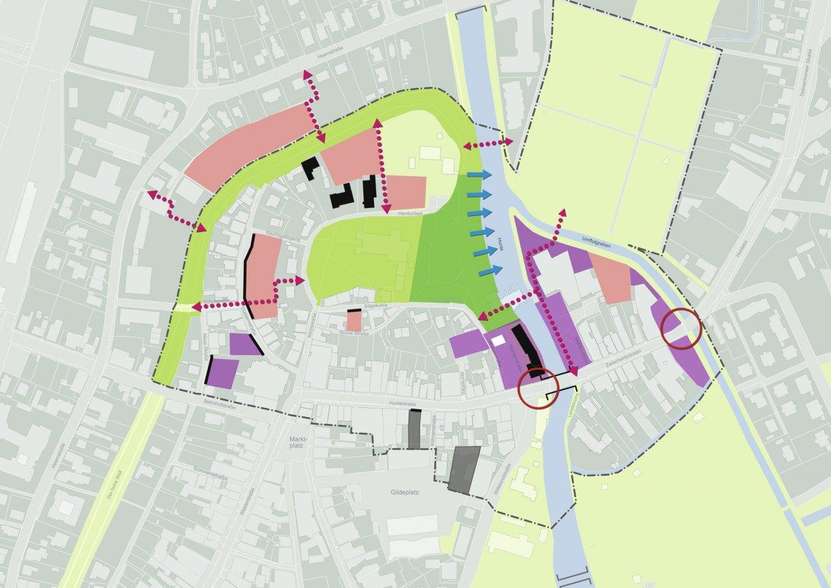Quartierskonzept Huntetor: Entwicklungspotentiale