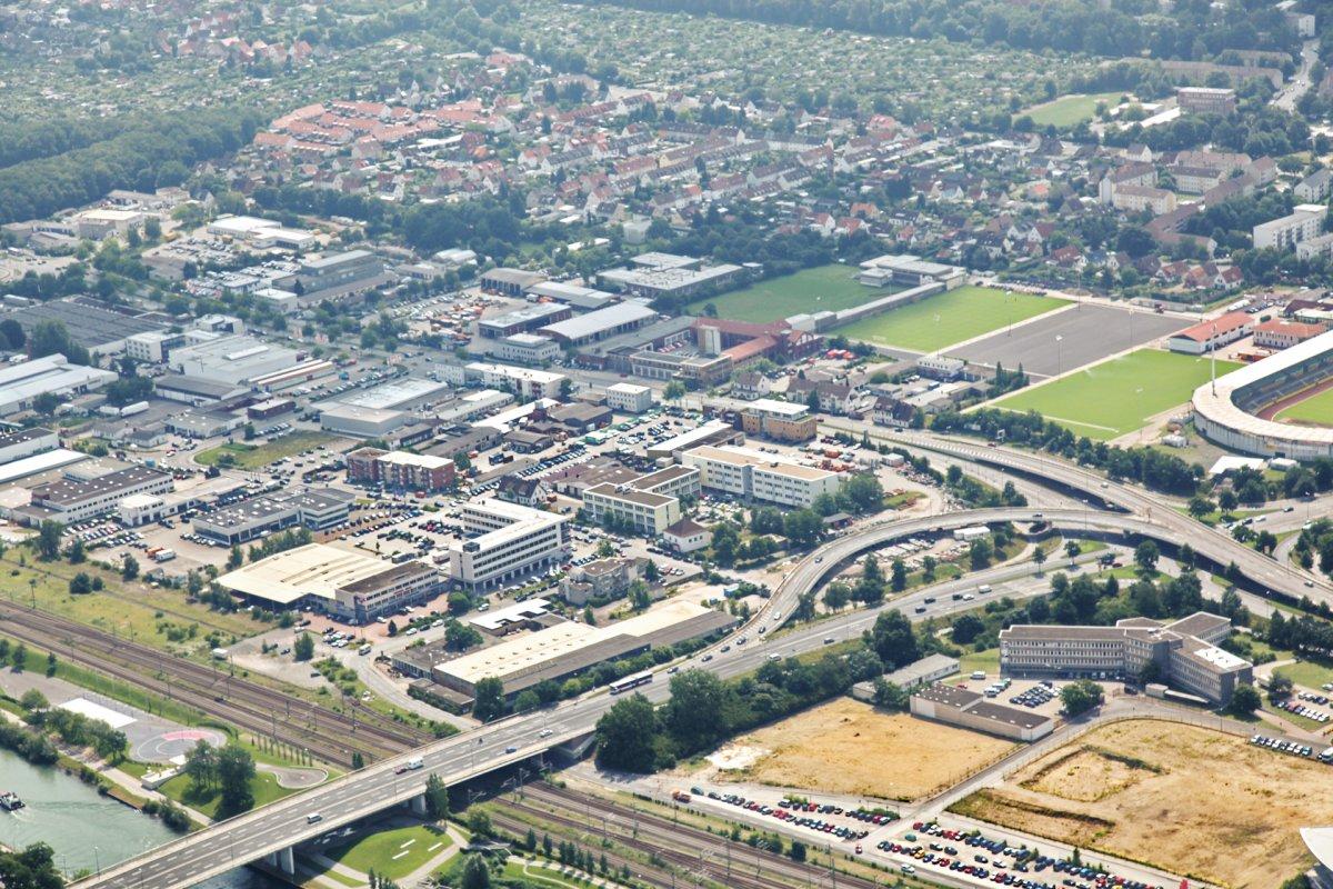 GE Dieselstraße: Blick aus Richtung Nordwesten