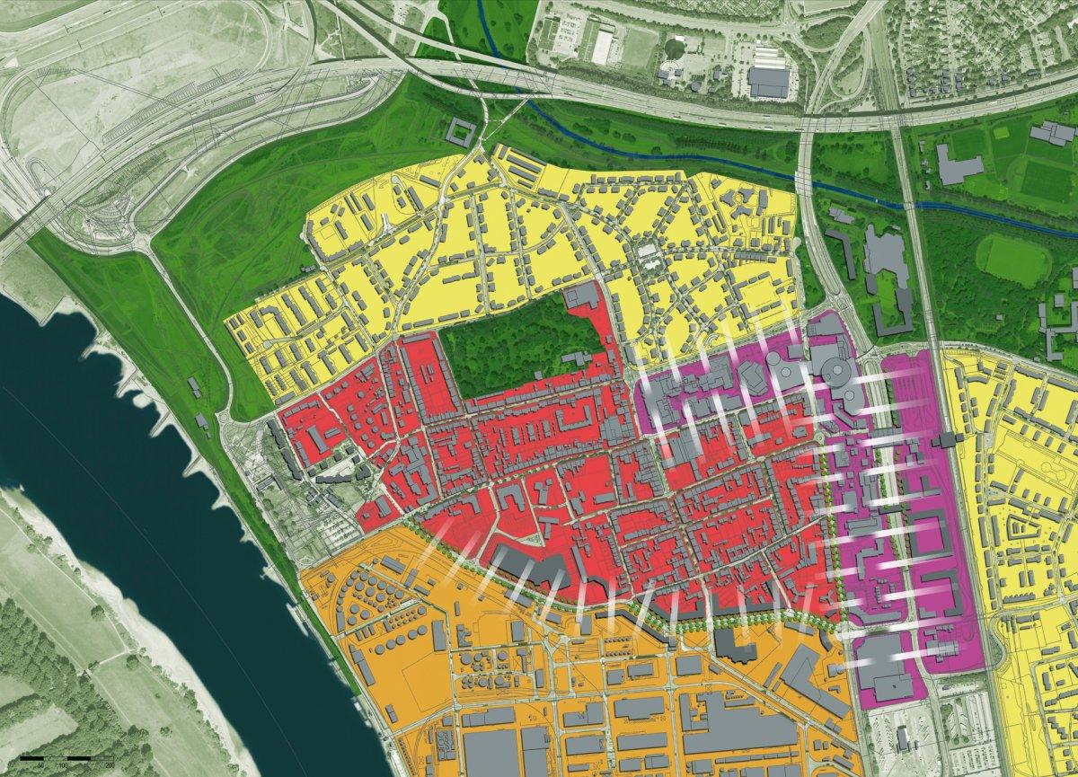 Stadtgrundriss-Ziel: Gegensätze vermitteln