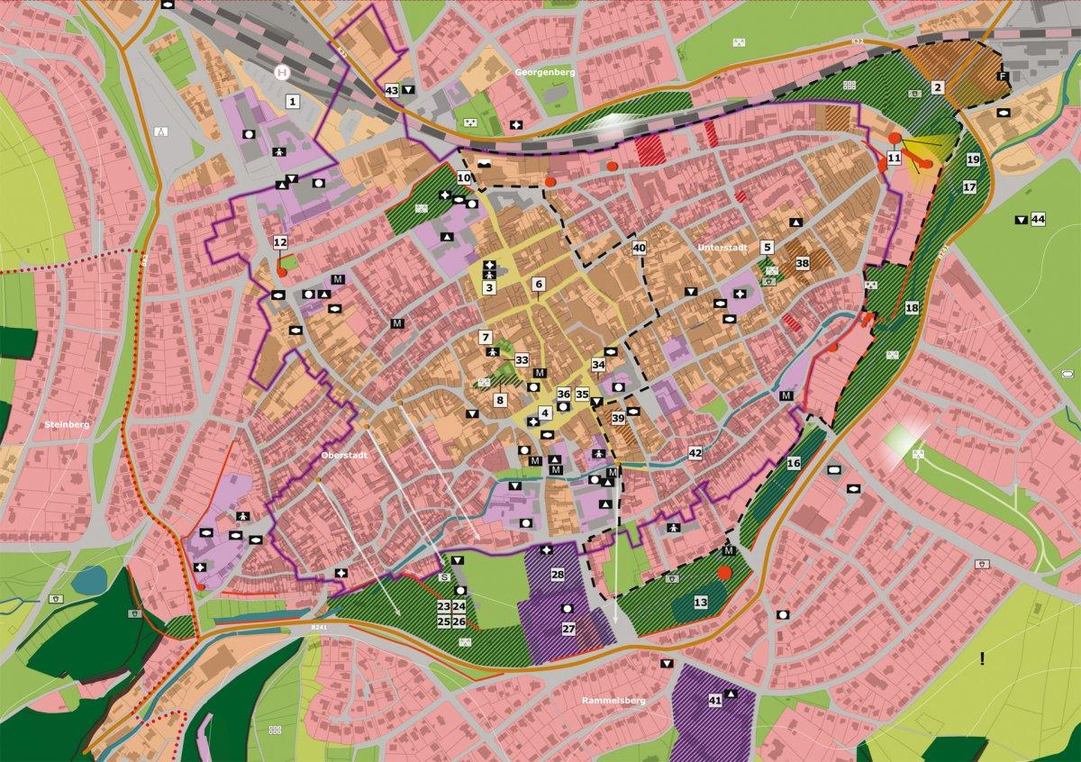 Stadtteilkonzept Altstadt mit Entwicklungsflächen und Maßnahmen