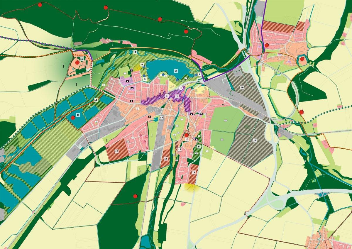 Stadtteilkonzept Vienenburg mit Entwicklungsflächen und Maßnahmen