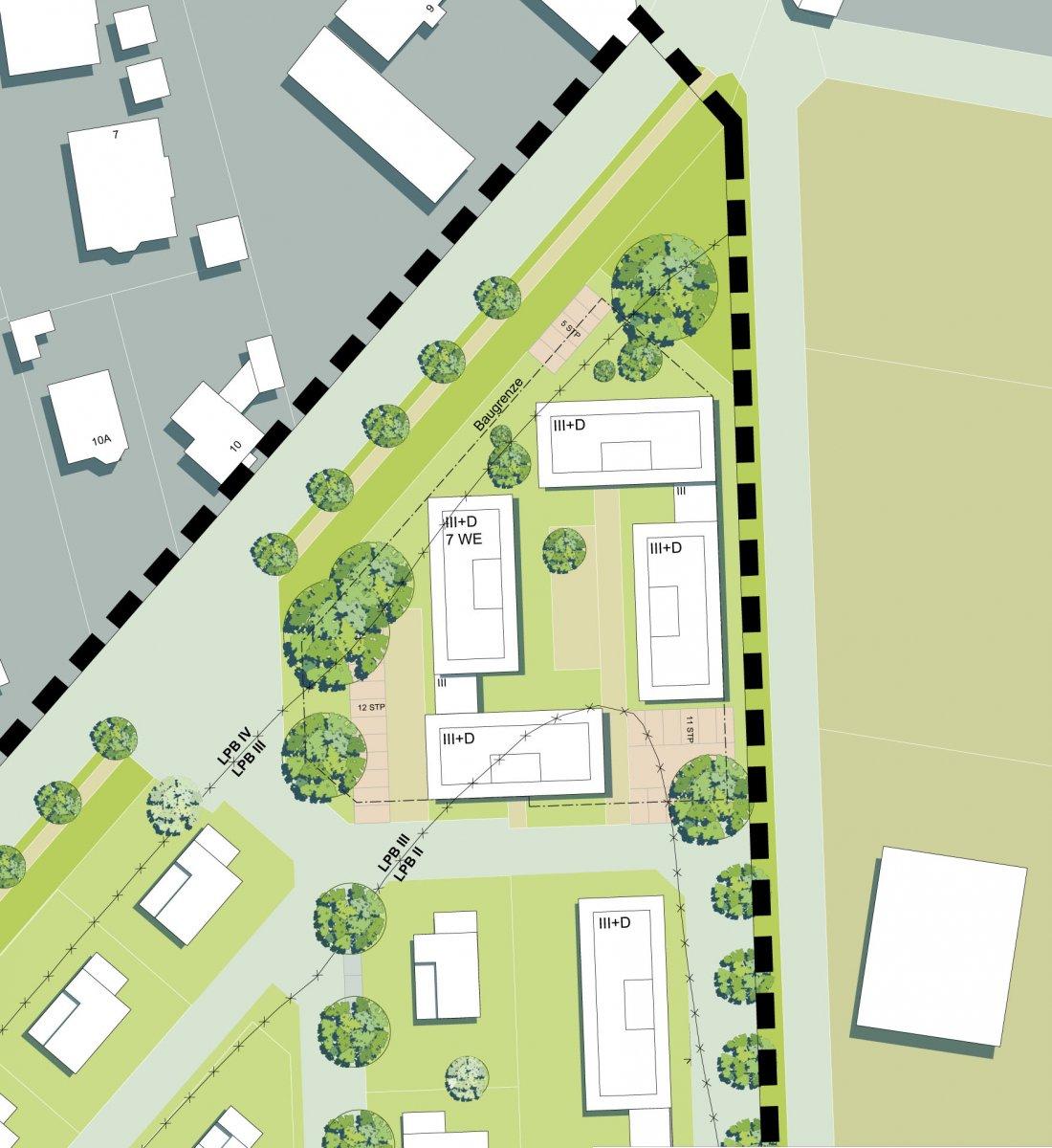 Städtebauliche Studie für einen Teilbereich