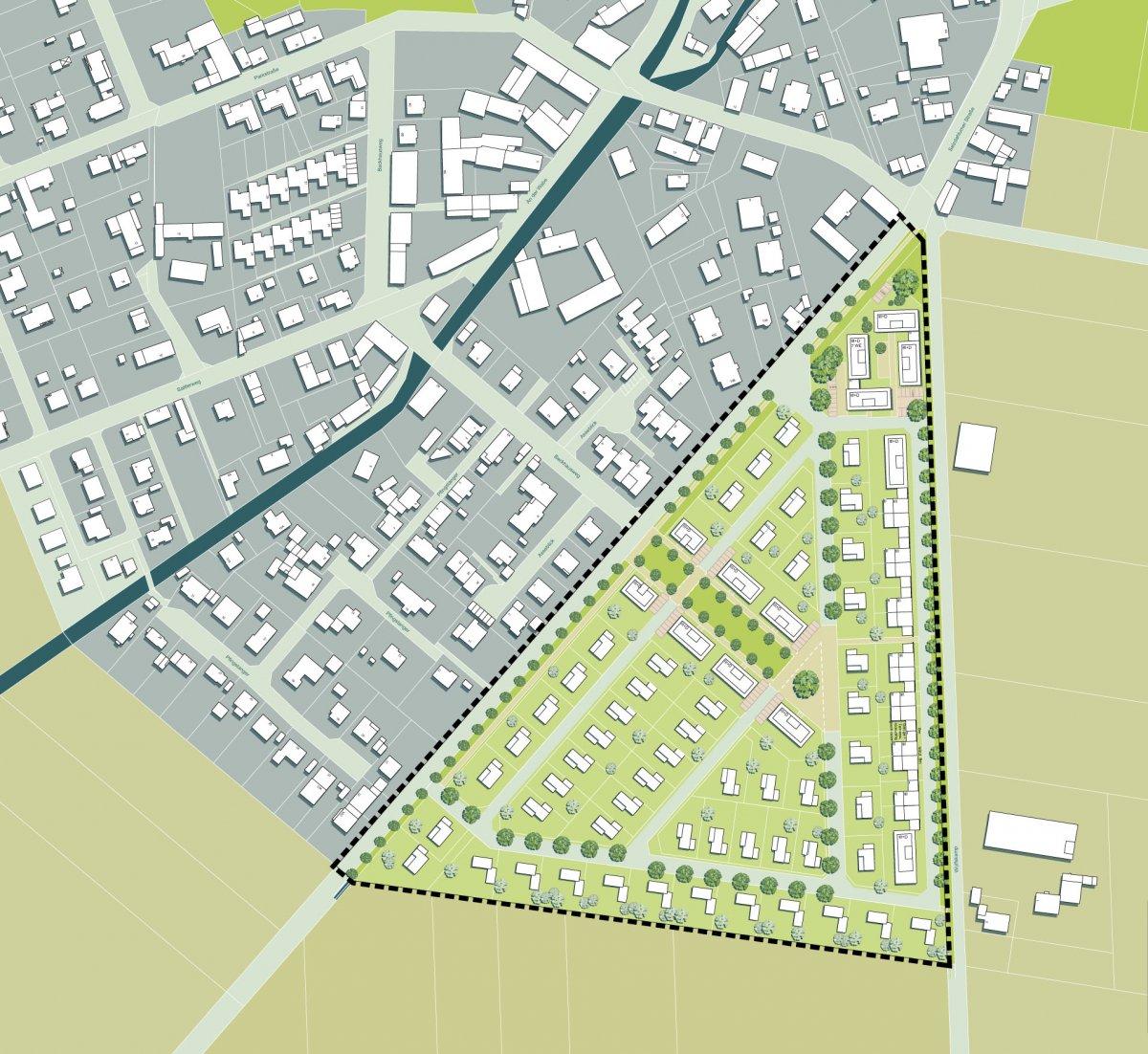Städtebauliches Konzept (Vorzugsvariante für den B-Plan)