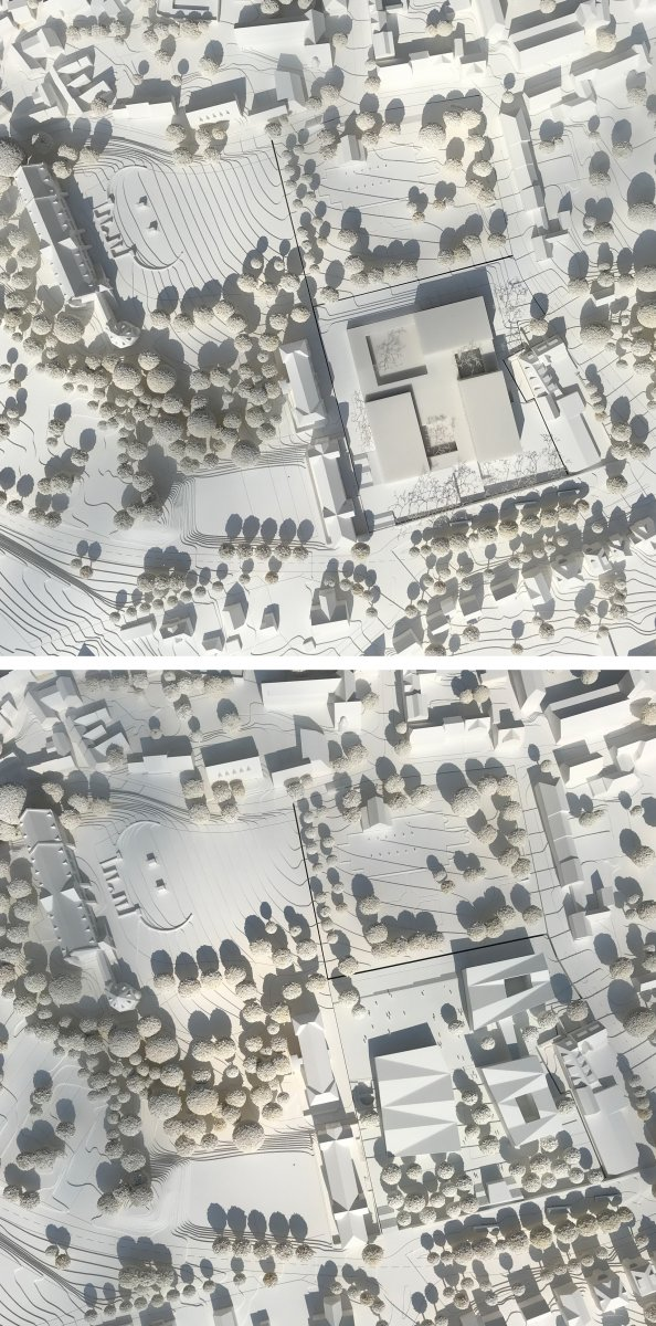 oben: Nieto Sobejano Architectos / unten: Auer Weber