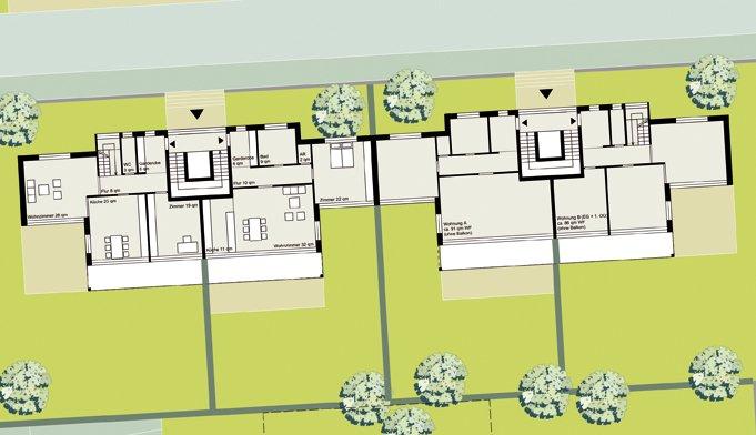 Beispielhafte Bautypologien: Bautyp Zeilenbebauung