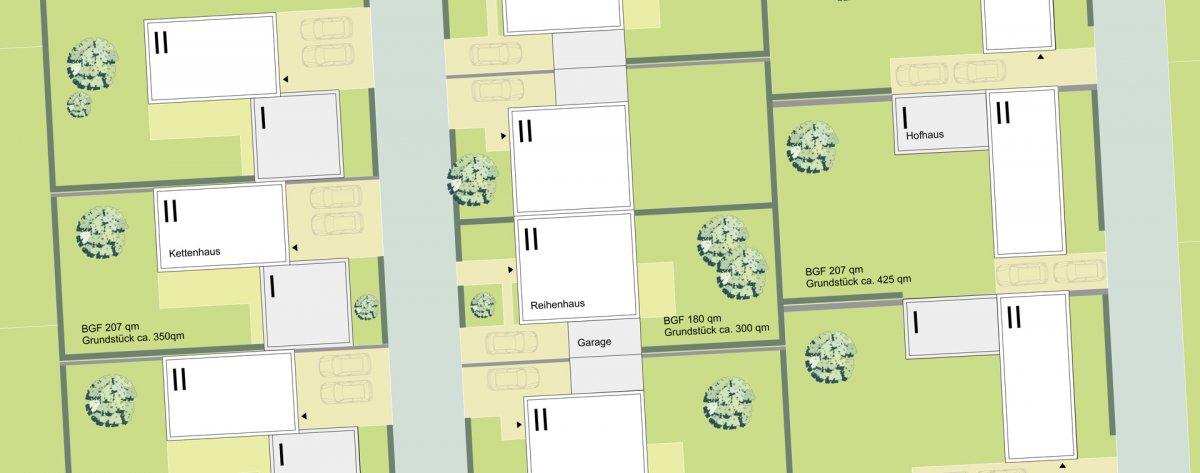 Bautypologien: Kettenhaus, Reihenhaus, Hofhaus