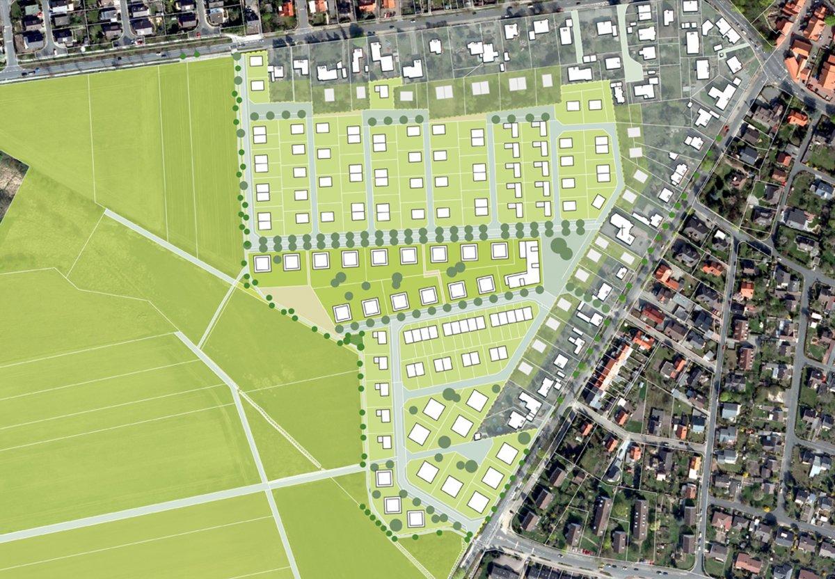 Vorzugsvariante Städtebauliches Konzept: Innere Achse