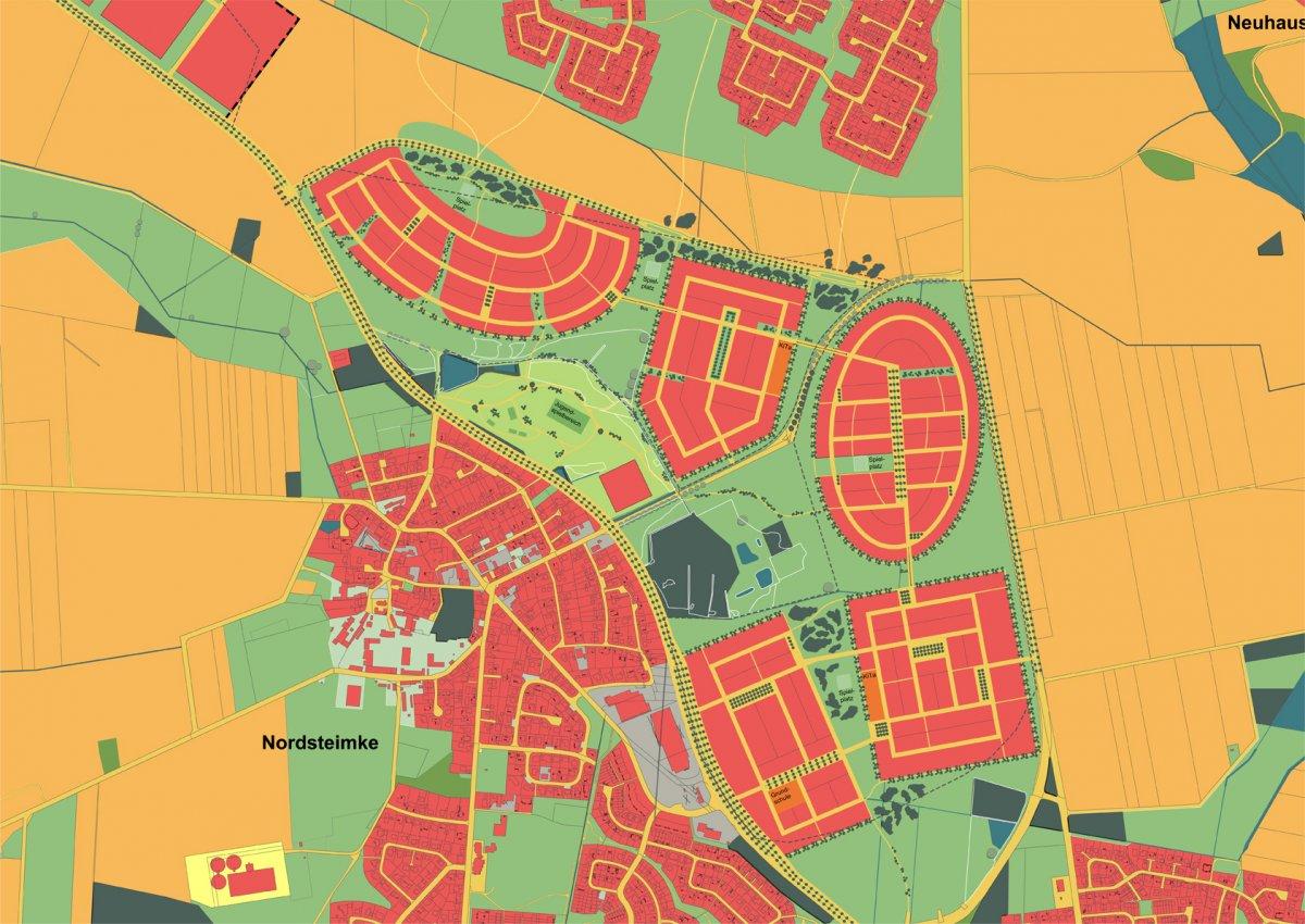 Vertiefung zum städtebaulichen Zielkonzept: Modell D – Prägnant und vernetzt